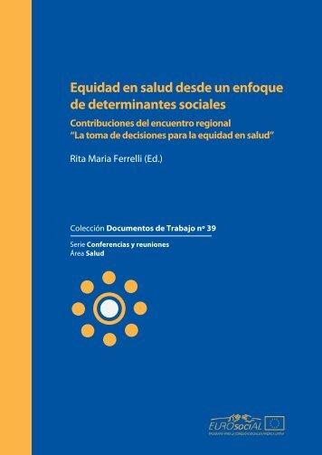Equidad en salud desde un enfoque de determinantes sociales
