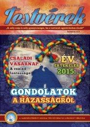 Testvérek Gyülekezeti Hírlevél 2016. január-február