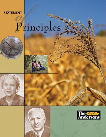 Statement of Principles in printable .pdf - The Andersons
