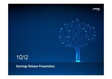 Earnings Release Presentation - Sonda