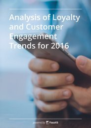 Analysis of Loyalty and Customer Engagement Trends for 2016
