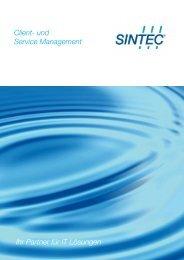 Ihr Partner für IT Lösungen Client- und Service Management - SINTEC