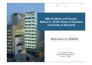 (Microsoft PowerPoint - Presentation to Maryland MBAs [S ... - Sonda