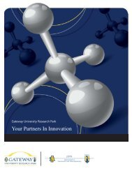 Your Partners In Innovation - Gateway University Research Park