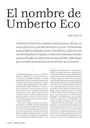 El nombre de Umberto Eco