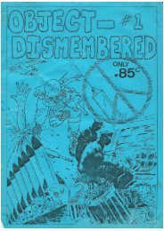 Object Dismembered Fanzine, Issue 1 1985