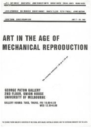Art in the Age of Mechanical Reproduction program, 1982