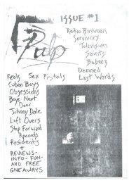 Pulp Fanzine,  Issue 1, 1977