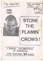 Stone the Flamin Crows Fanzine, 1986