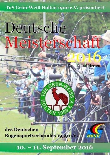 Programmheft DM 2016 der Damen und Herren  in Oberhausen