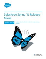 Salesforce Spring '16 Release Notes