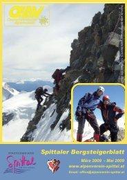 Spittaler Bergsteigerblatt März 2009 - Alpenverein Spittal/Drau