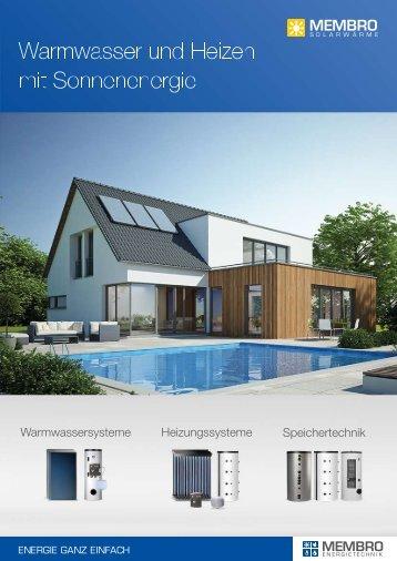 MEMBRO Broschüre Solarwärme 2016