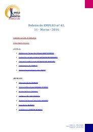 Boletín de EMPLEO nº 42 11 - Marzo - 2016