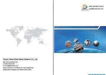 Henan Seed Steel Metal Materials Product Catalog