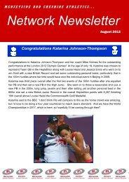 M&C Newsletter- August 2012 - Warrington Road Runners