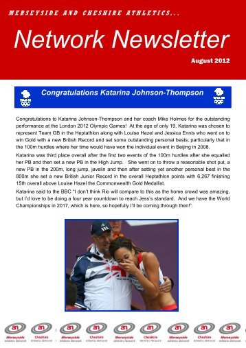 M&C Newsletter- August 2012 - Warrington Road Runners