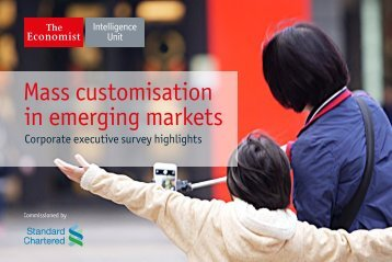 Mass customisation in emerging markets