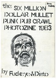 The Six Million Dollar Mullet Punk Pub Crawl Photozine 1983