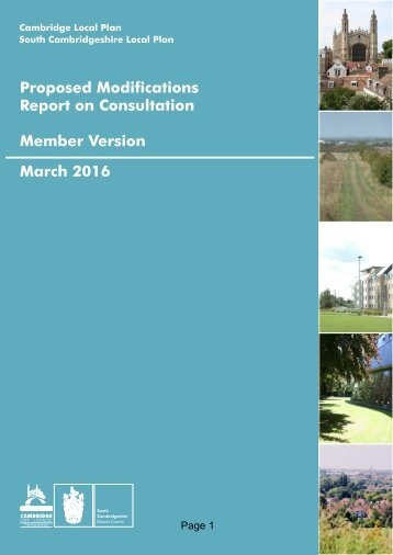 Proposed Modifications Report on Consultation Member Version March 2016