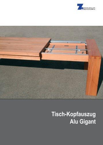 Tisch-Kopfauszug