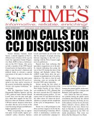 Caribbean Times 68th issue - Monday 14th March 2016