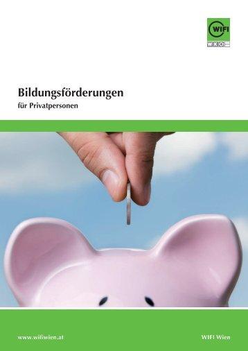 Bildungsförderungen für Privatpersonen - WIFI Wien