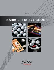 2016 Titleist Custom Ball & Packaging Brochure