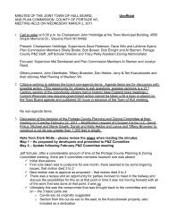 Plan Commission Minutes - March 2, 2011 - Town of Hull