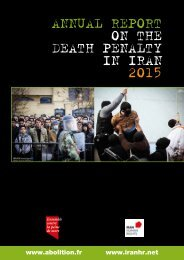 ANNUAL REPORT ON THE DEATH PENALTY IN IRAN 2015