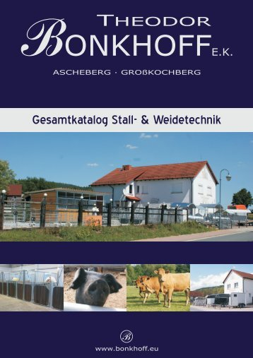 Bonkhoff Gesamtkatalog Stall- & Weidetechnik