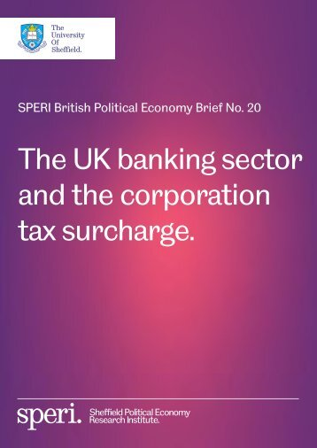 The UK banking sector and the corporation tax surcharge