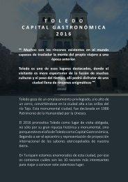 T O L E D O CAPITAL GASTRONÓMICA 2016