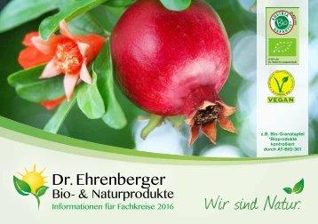 Dr. Ehrenberger Bio- & Naturprodukte Katalog 2016