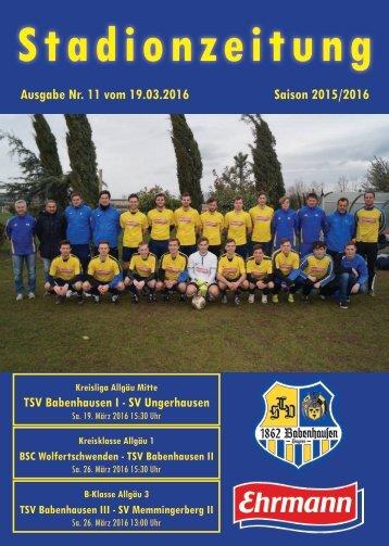 20160319 11 Stadionzeitung TSV Babenhausen - SV Ungerhausen