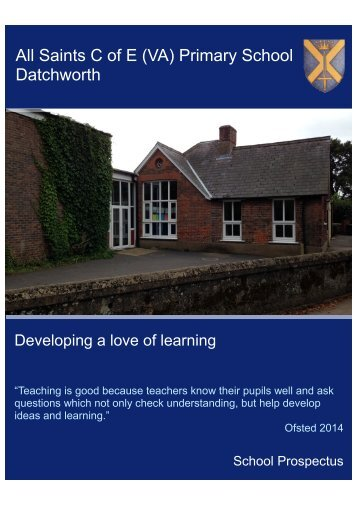 All Saints Datchworth Prospectus Draft Jun 2015