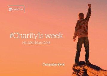 #CharityIs week