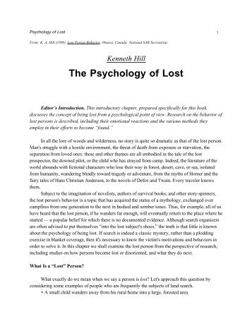 Psychology of Lost