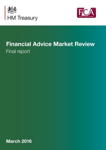 Financial Advice Market Review