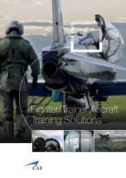 Fighter/Trainer Aircraft Training Solutions