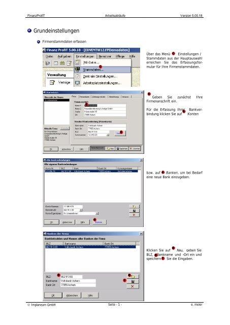 Stammdaten erfassen - Implaneum GmbH