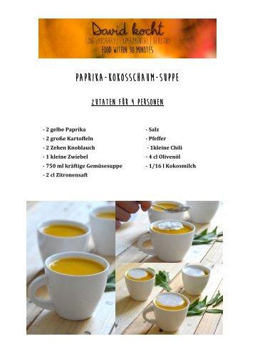 Paprika-Kokosschaum-Suppe
