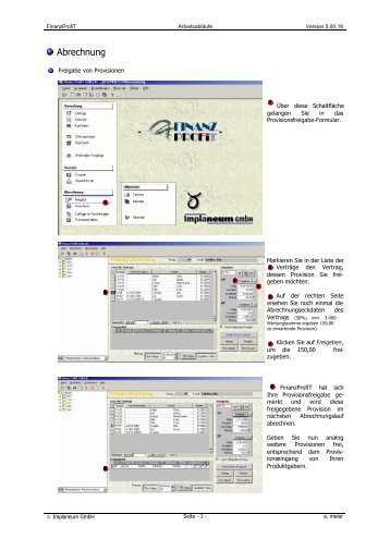 Provisionen freigeben - Implaneum GmbH