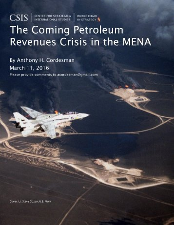 The Coming Petroleum Revenues Crisis in the MENA