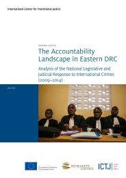 The Accountability Landscape in Eastern DRC