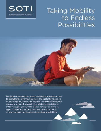 Taking Mobility to Endless Possibilities