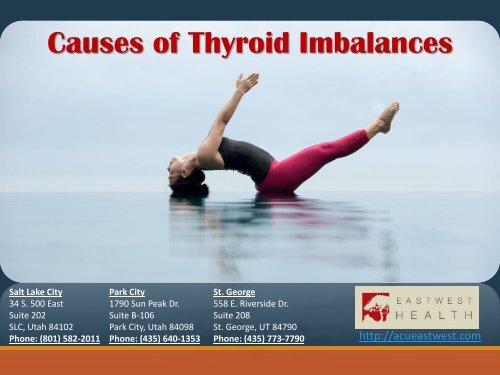 Causes of Thyroid Imbalances - Acueastwest