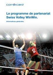 Le programme de partenariat Swiss Volley WinWin. - Cornercard