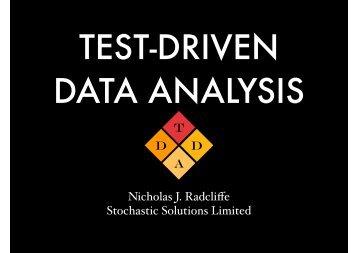 TEST-DRIVEN DATA ANALYSIS