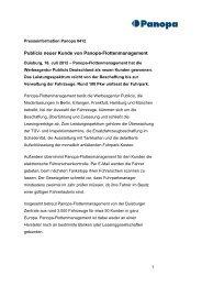 Publicis neuer Kunde von Panopa-Flottenmanagement